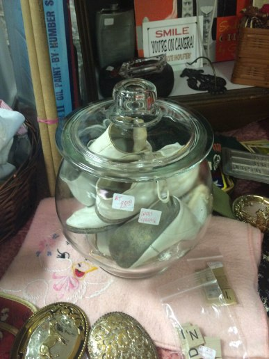 Jar of Baby Shoes - Spring Antique Mall