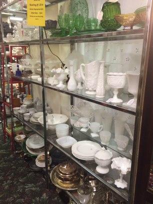 Milk Glass 2 - Spring Antique Mall