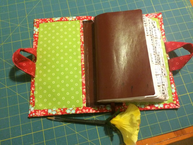 Quilted Bible Cover Finished Inside